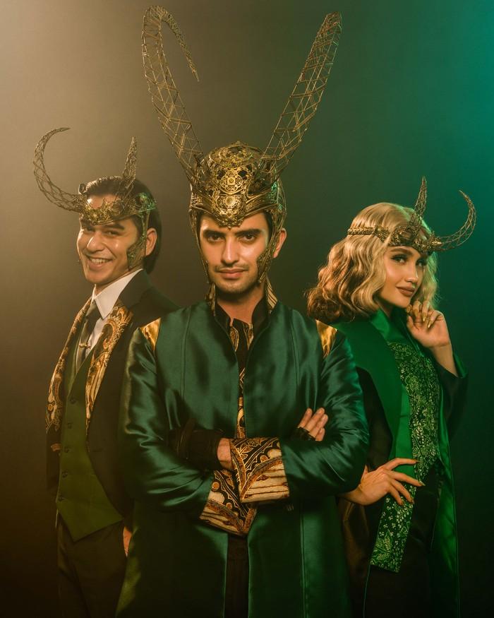 Rangga Azof, Omar Daniel, dan Cinta Laura tampil sebagai Loki.