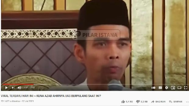 Ustaz Abdul Somad dikabarkan meninggal dunia.