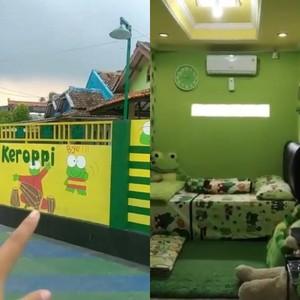 Viral Video Rumah Unik Serba Kero Keroppi di Banten, Dikira Sekolah TK