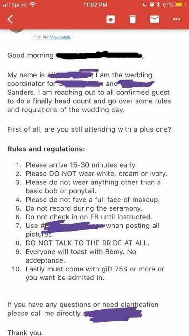 Aturan pernikahan viral