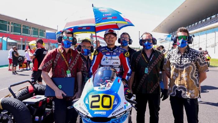 Dimas Ekky gagal beraksi di FIM CEV Moto 2 2021 seri Aragon.