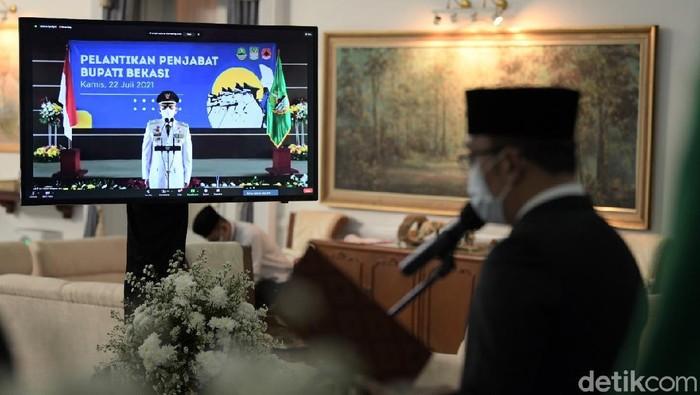 Gubernur Jabar Ridwan Kamil melanti Dani Ramdan jadi Pj Bupati Bekasi