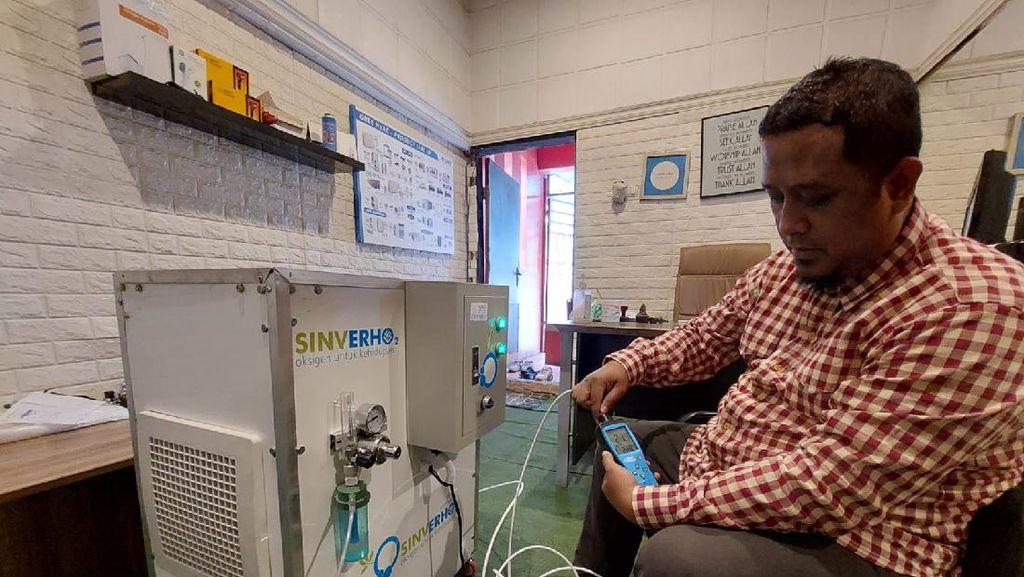 Salut! Atasi Kelangkaan Oksigen, Pria Asal Cimahi Buat Alat Oxygen Maker