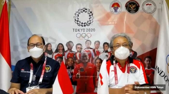 Chef de Mission Rosan P. Roeslani membeberkan konsep defile tim Indonesia dalam pembukaan Olimpiade Tokyo 2020, Kamis 22 Juli 2021.
