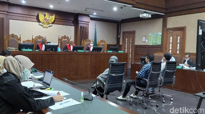 Sidang Ferdy Yuman di Pengadilan Tipikor Jakarta, Kamis (22/7/2021). Foto: Zunita Putri/detikcom