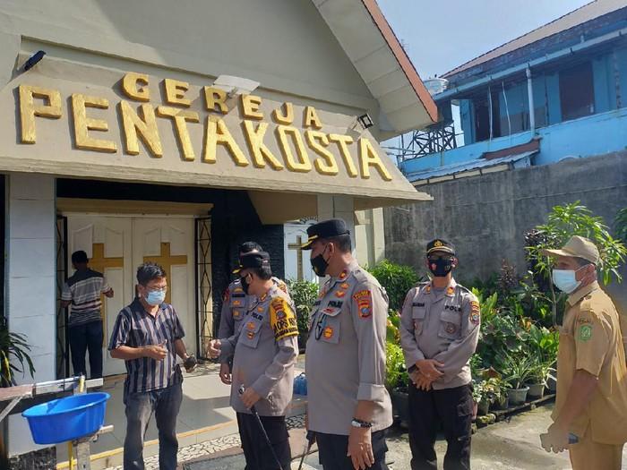 Suasana usai tawuran terjadi di Belawan (dok. Polda Sumut)