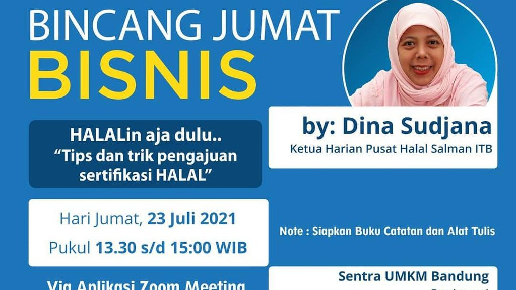 UMKM Bisa Ikut, bank bjb Gelar Webinar Cara Ajukan Sertifikasi Halal