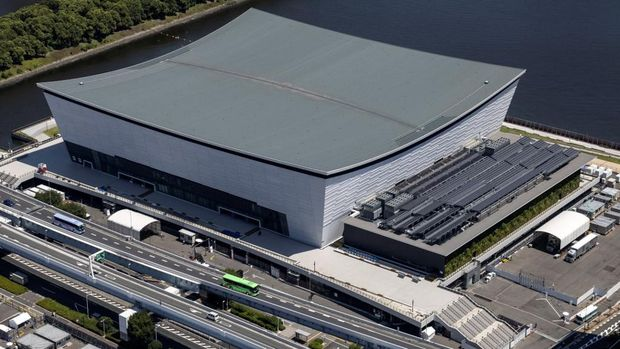 Ariake Arena, Tokyo  (Photo by Behrouz MEHRI / AFP)