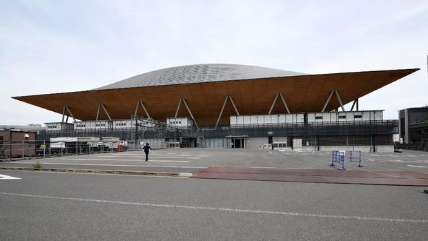 Ariake Gymnastics Centre, venue untuk senam Olipiade 2020 Tokyo. (Photo by Kazuhiro NOGI / AFP)
