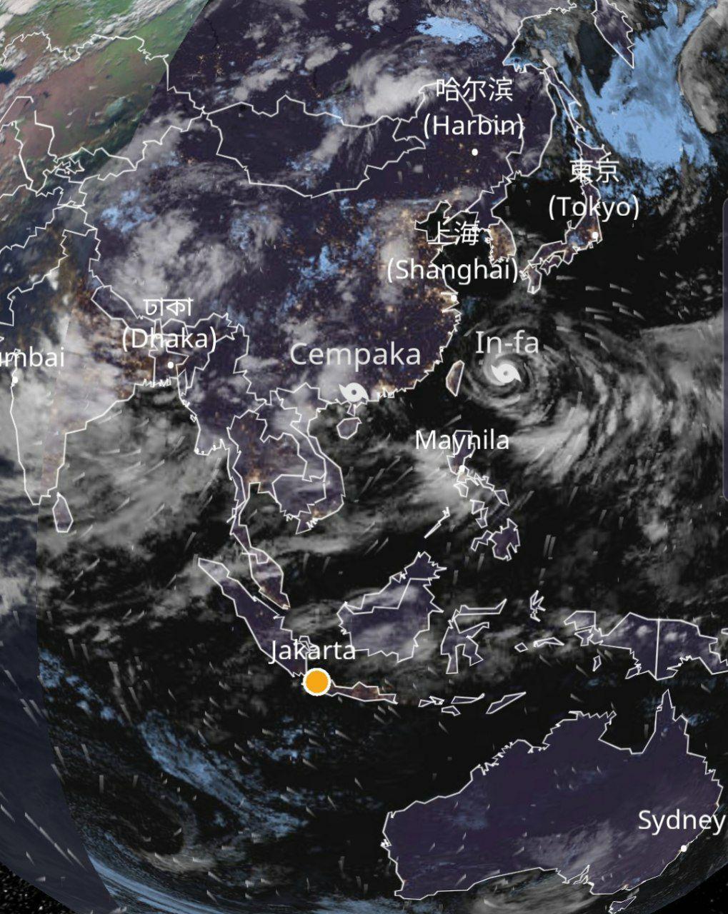 Data oseanografi banjir di China-Kalimantan