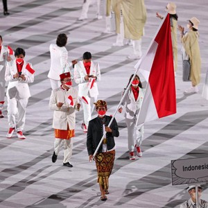 Pembukaan Olimpiade 2020, Intip Gaya Atlet Indonesia Berbaju Merah-Putih