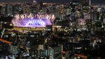 Gemerlap Kembang Api Sambut Pembukaan Olimpiade Tokyo