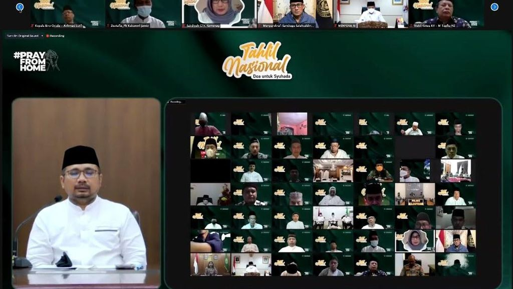 Menpora Hadiri Tahlil Nasional VirtualDoa untuk Syuhada