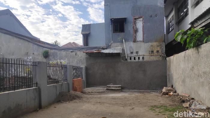 Lokasi rumah tahfidz ditembok di Makassar. (Taufiq/detikcom)