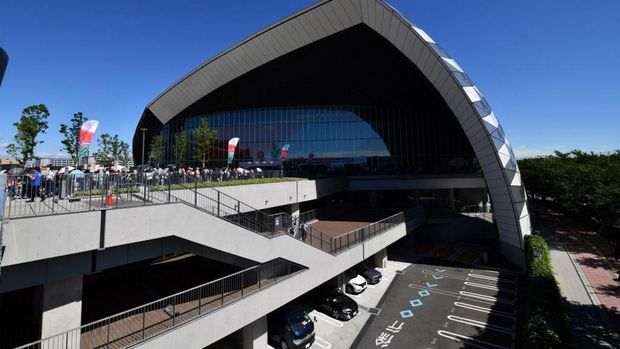 Musashino Forest Sport Plaza, venue bulutangkis dan modern pentathlon di Tokyo 2020 Olympic Games (Photo by TOSHIFUMI KITAMURA / AFP)
