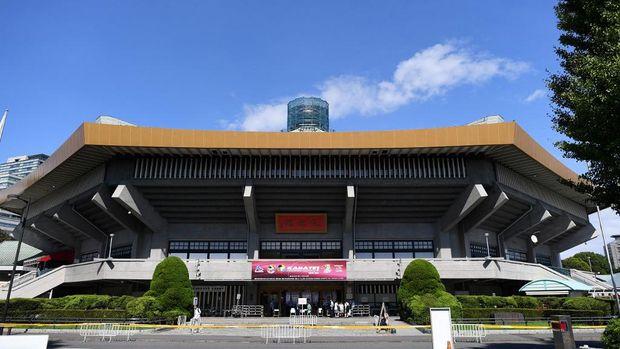Nippon Budokan, venue karate dan judo Tokyo 2020 Olympic Games. (Photo by Charly TRIBALLEAU / AFP)