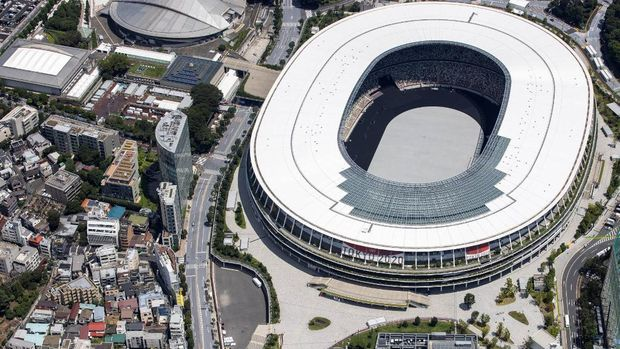 Olympic Stadium di Tokyo (Photo by Behrouz MEHRI / AFP)