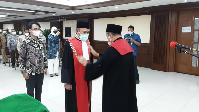 Sobandi dilantik menjadi Wakil Ketua PN Jakpus, Jumat (23/7/2021).