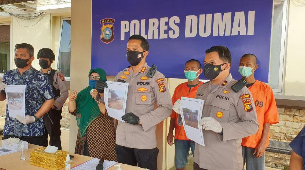 Polisi Ringkus 4 Pelaku Pembalakan Liar di Dumai Riau, 1 DPO