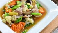 Resep Capcay Goreng Bakso ala Restoran Chinese Food