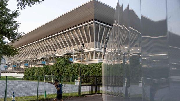 Tokyo Aquatics Centre, venue renang dan loncat indah Olimipade 2020 Toky. (Photo by Yuki IWAMURA / AFP)