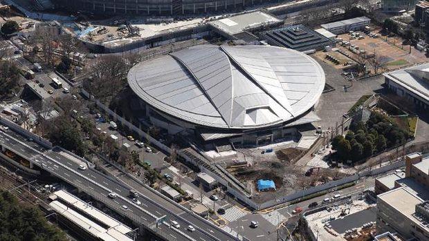 Tokyo Metropolitan Gymnasium, venue tenis meja di Olimpiade 2020 Tokyo. (Photo by Jung Yeon-je / AFP)