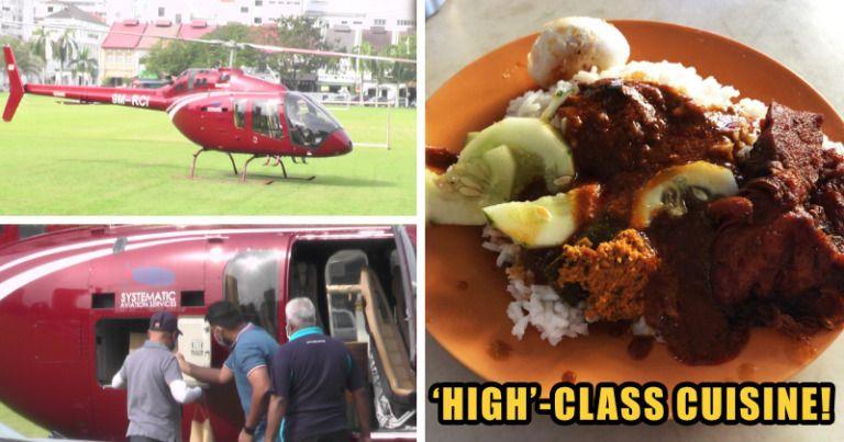 Wow! Helikopter Mendarat di Restoran Demi Ambil 36 Bungkus Nasi Ganja