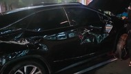 Segini Pajak Lexus Pelat RFS yang Ringsek Usai Terguling Gegara Hindari Penyekatan
