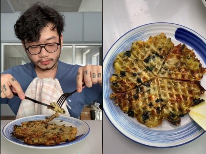 Nyeleneh! Chef William Gozali Bikin Waffle Nasi Padang