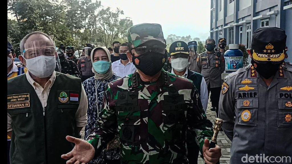 Panglima TNI Tinjau Rumah Sakit dan Si Jalak Harupat untuk Pusat Isolasi