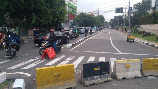 Situasi terkini di kawasan Istana Negara dan Glodok, tak ada massa demo 'Jokowi End Game', Sabtu (24/7/2021).