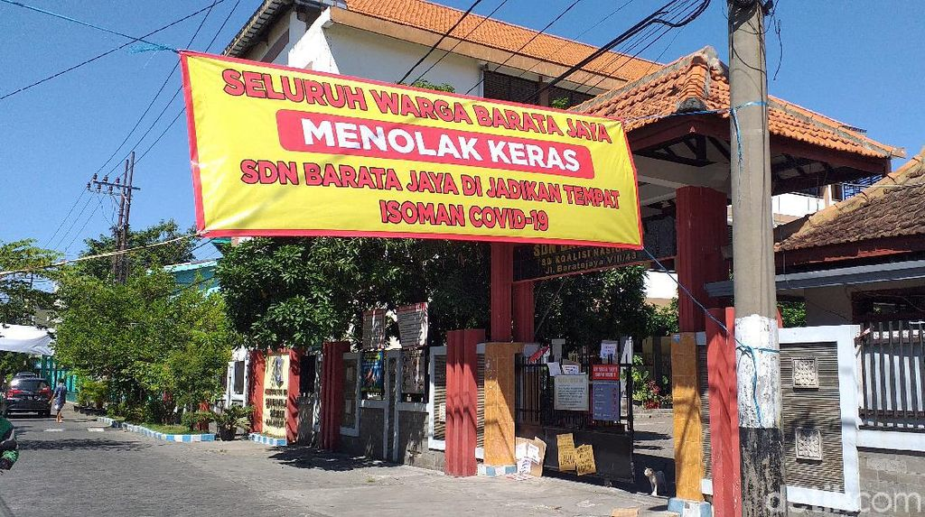 Lagi, Warga di Surabaya Tolak Sekolah Dijadikan Tempat Isolasi Pasien COVID-19