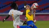 Hasil Olimpiade Tokyo 2020: Dua Kartu Merah, Brasil Vs Pantai Gading 0-0
