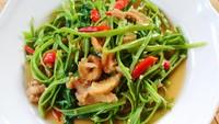 Resep Tumis Kangkung Ikan Asin yang Sedap Banget