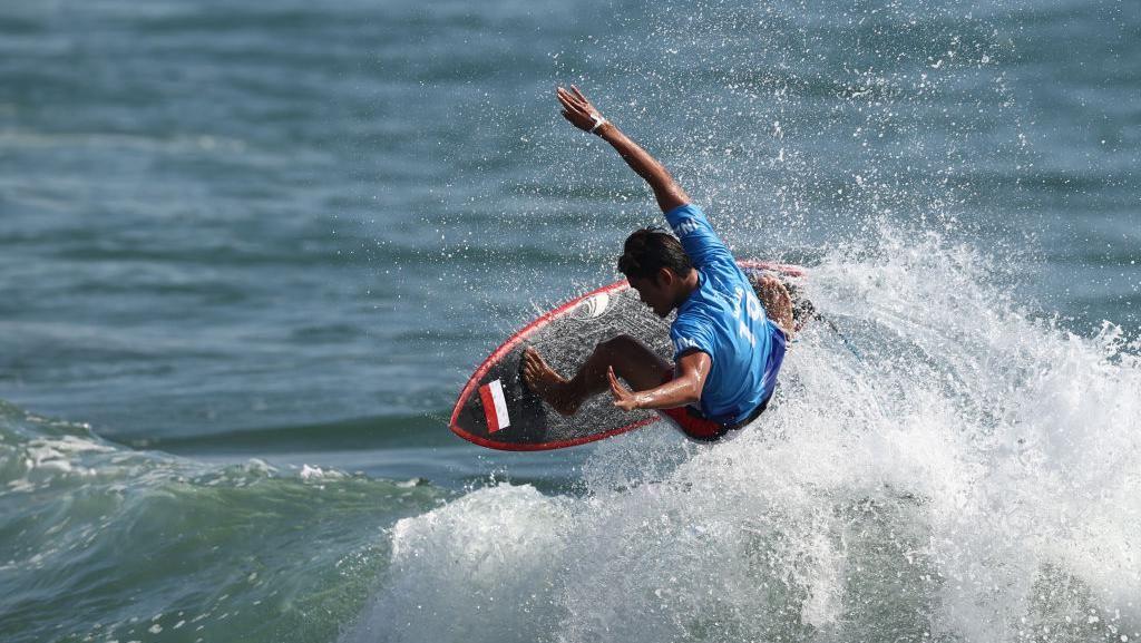 Hasil Surfing Olimpiade Tokyo 2020: Rio Waida Lolos ke Babak Kedua
