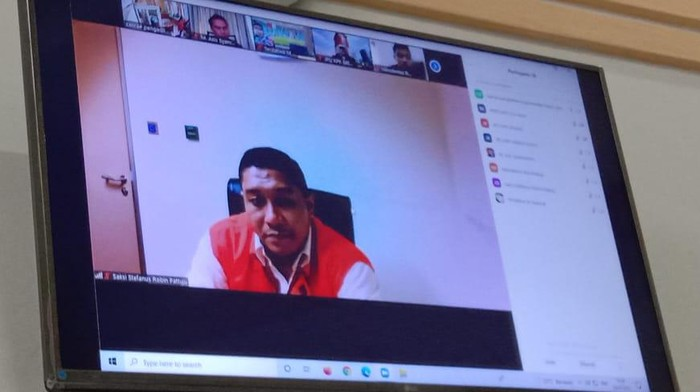 AKP Stepanus Robin Pattuju saat menjadi saksi di PN Medan (Ahmad Arfah-detikcom)