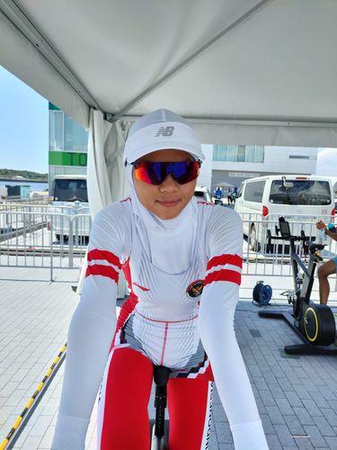 Atlet Dayung Rowing Melani Putri.
