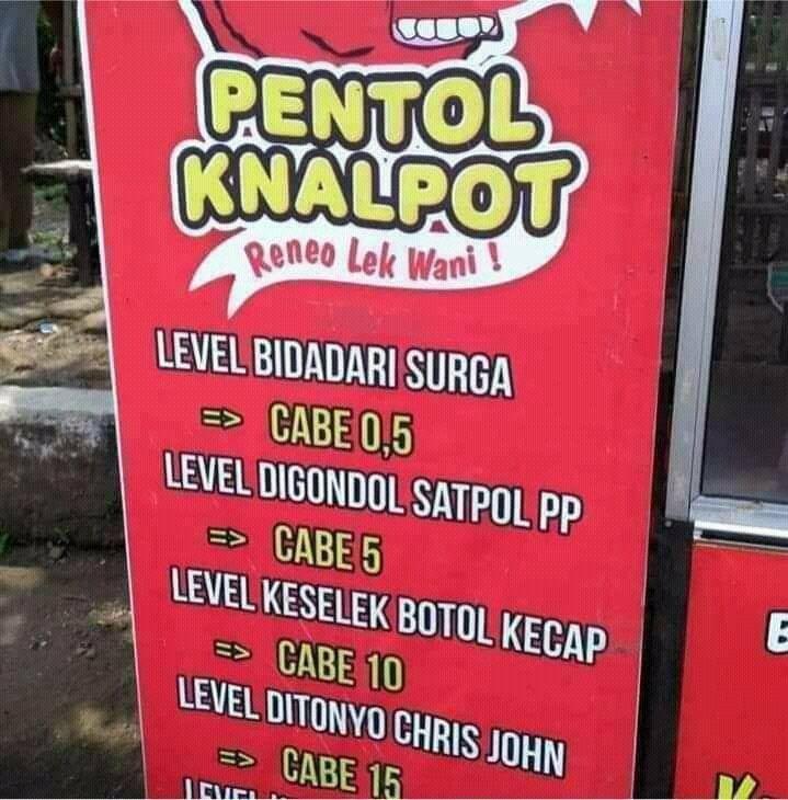 Kocak! Penjual Pentol Ini Pakai Level Pedas Digondol Satpol PP hingga Bidadari Surga