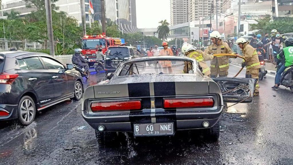 4 Fakta Kebakaran Mobil Mustang GT500 di Pondok Indah