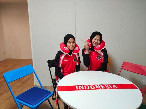 Foto Mutiara dan Melani saat mengikuti Olimpiade Tokyo