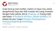 Uang Investor Startup Tanijoy Diduga Ditilep Rp 4 M, Viral di Twitter