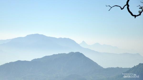 lukisan alam pegunungan sanggabuana dan sekitar