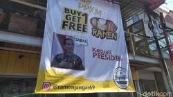 Geger Baliho Promo Warung Ramen Garut yang Tak Berlaku untuk Presiden