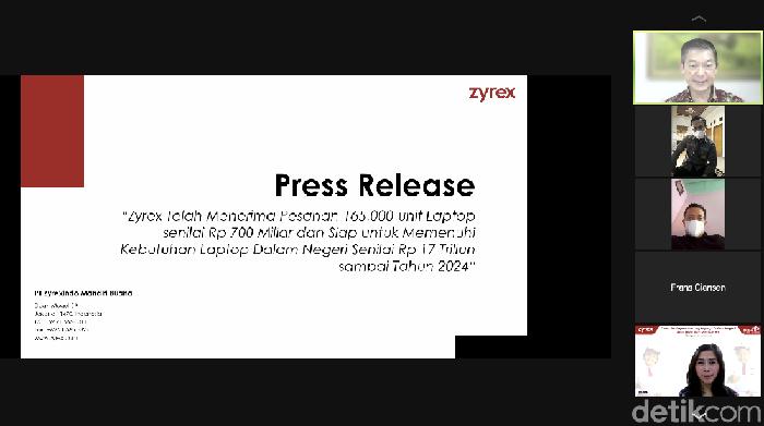 Konferensi pers Zyrex
