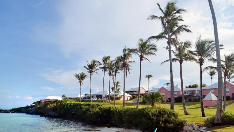 View pantai dari Bermuda.