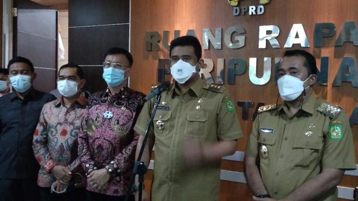 Bobby Nasution (kedua dari kanan)/Datuk-detikcom