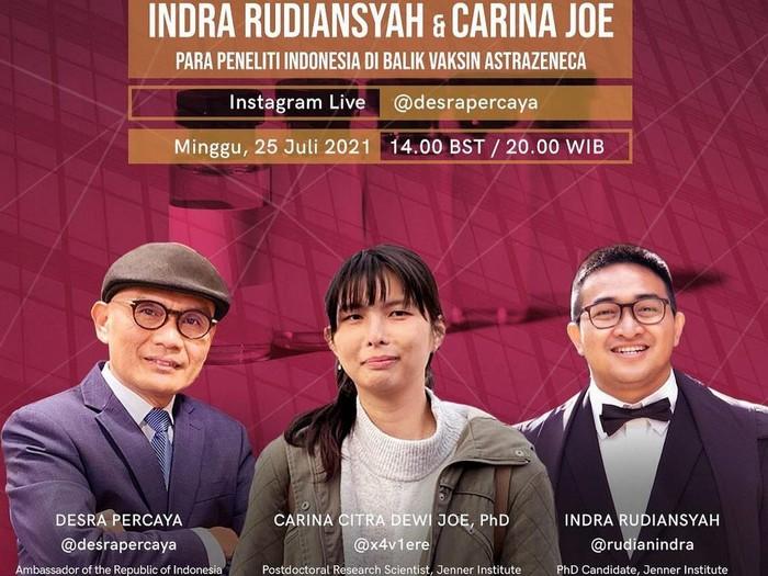 acara Ngosyek atau Ngobrol Asyeek di Instagram Duta Besar Indonesia untuk Inggris @desrapercaya
