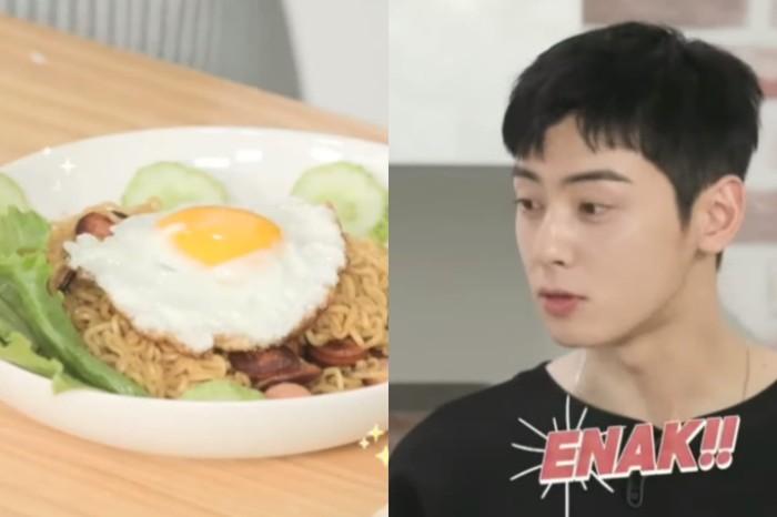 Cha Eun Woo Cicip Indomie Goreng