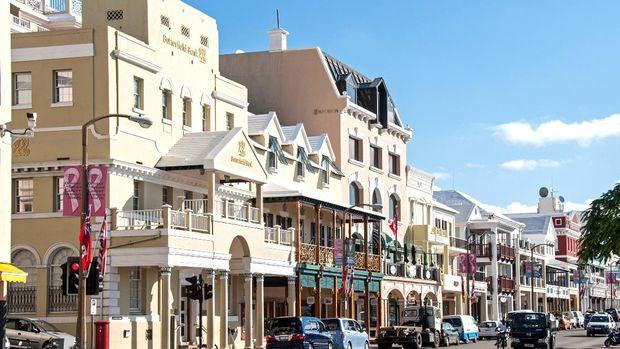 Toko dan retail di Hamilton, ibu kota Bermuda.