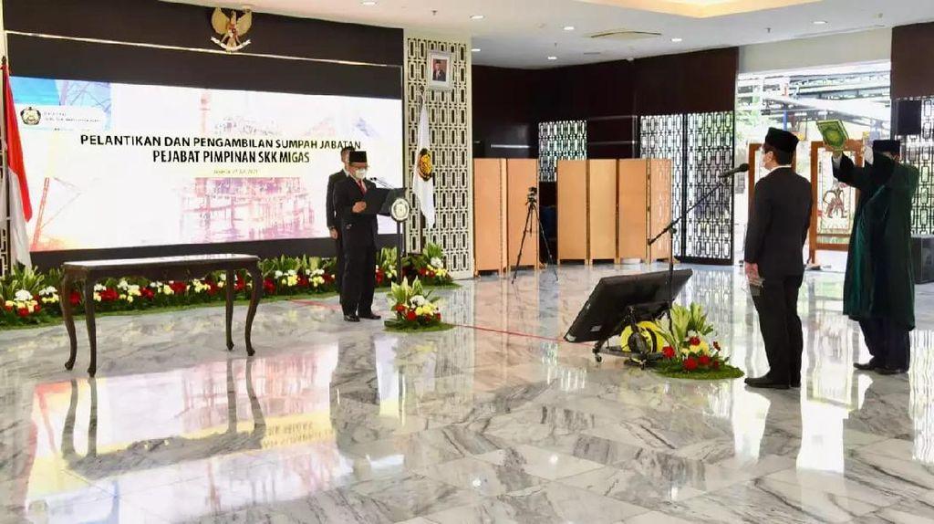 Lantik Pejabat SKK Migas, Menteri ESDM Paparkan Target Hulu Migas